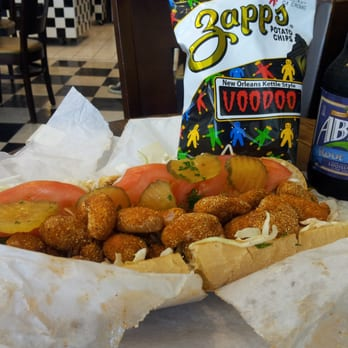 Orleans - Shrimp po'boy...wash it down with Abita Rootbeer..and voodoo ...