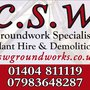 CSW Groundworks Plant Hire & Demolition