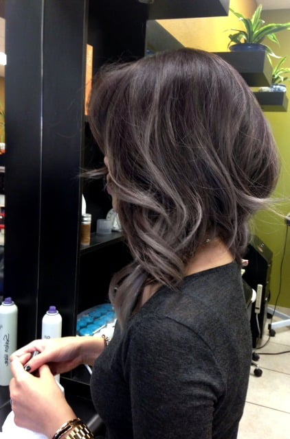 Black Hair With Platinum Ombre Highlights | golden blonde