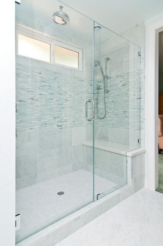 Large Walk In Shower Big Enough For Two With A Full Bench