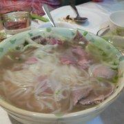 Special beef noodle soup (i.e. pho)