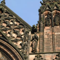 detail of Lichfield cathedral…