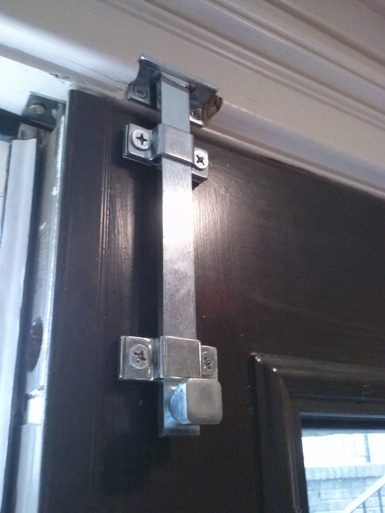 Surface bolts heavy duty commercial grade slide bolts for Locks for french doors that open out