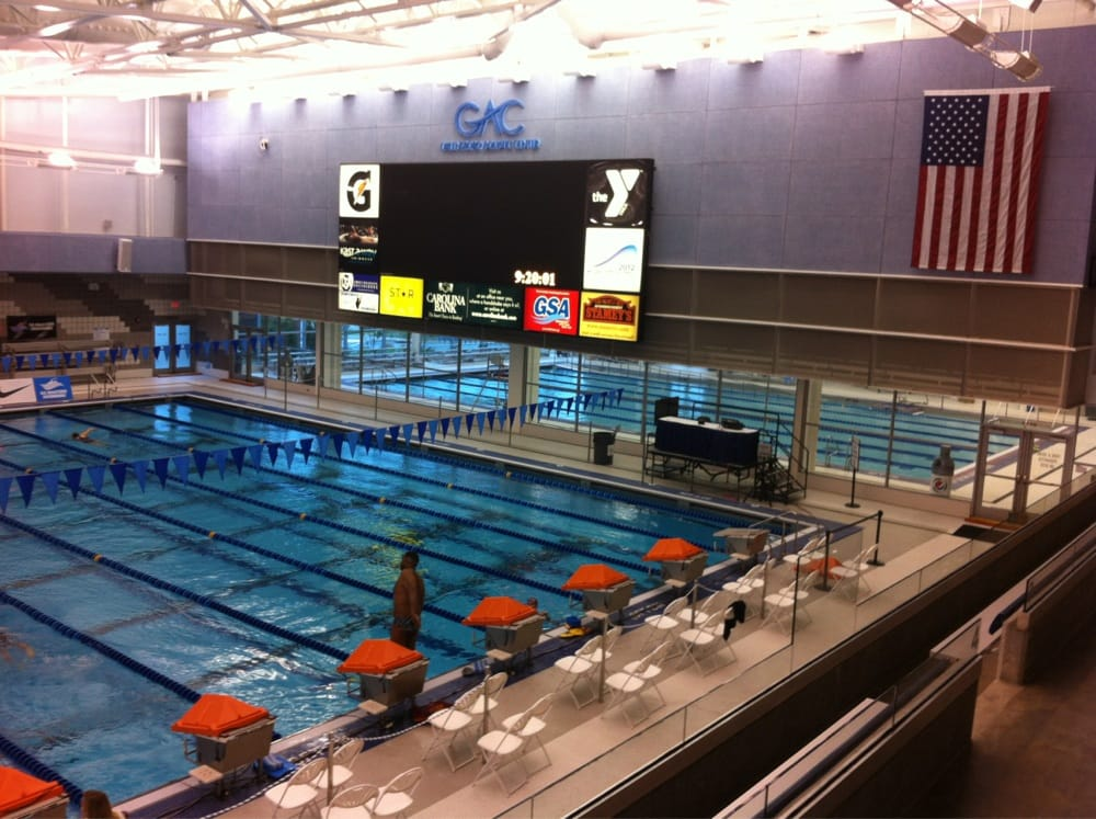 Greensboro Aquatic Center At The Greensboro Coliseum Complex Swimming Pools Greensboro Nc