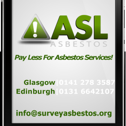 ASL Asbestos Surveys, Removals & Testing - Glasgow, United Kingdom. Asbestos surveys Glasgow