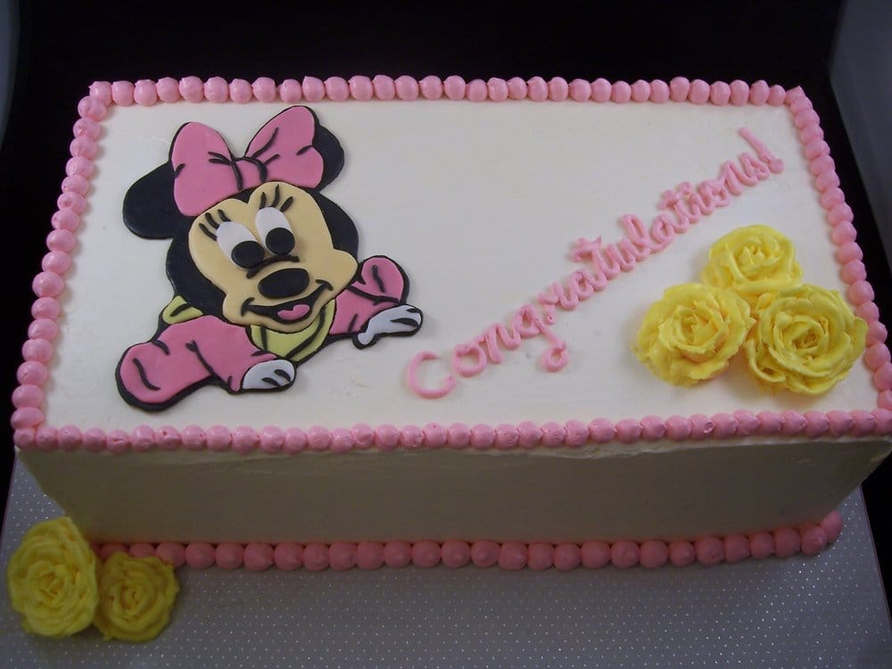 Baby Minnie Mouse Baby Shower Baby Minnie Mouse Cake For