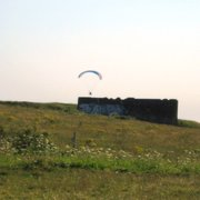 Paragliding at the top of the Downs,…