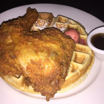 Melba's - New York, NY, United States. Chicken and eggnog waffle