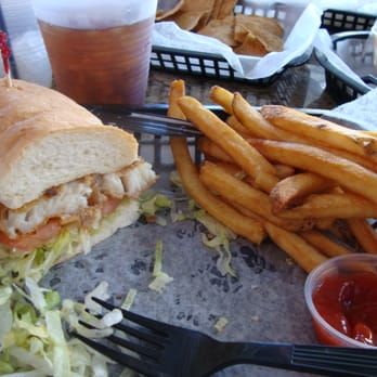 Rick s on the river american restaurants yelp for Fried fish sandwich near me