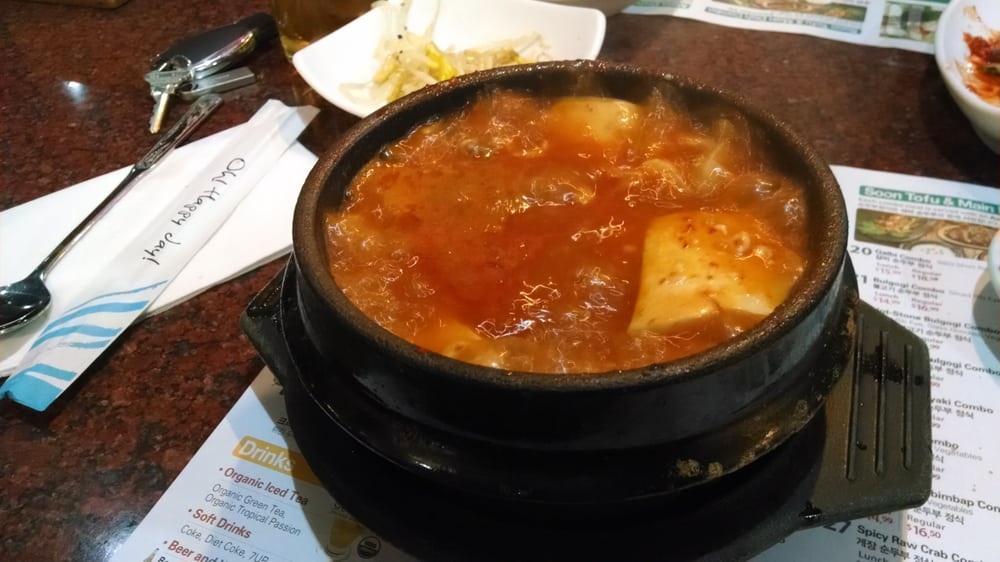 Silky smooth Tofu enclosed! This one also had Kimchi Dumplings. | Yelp