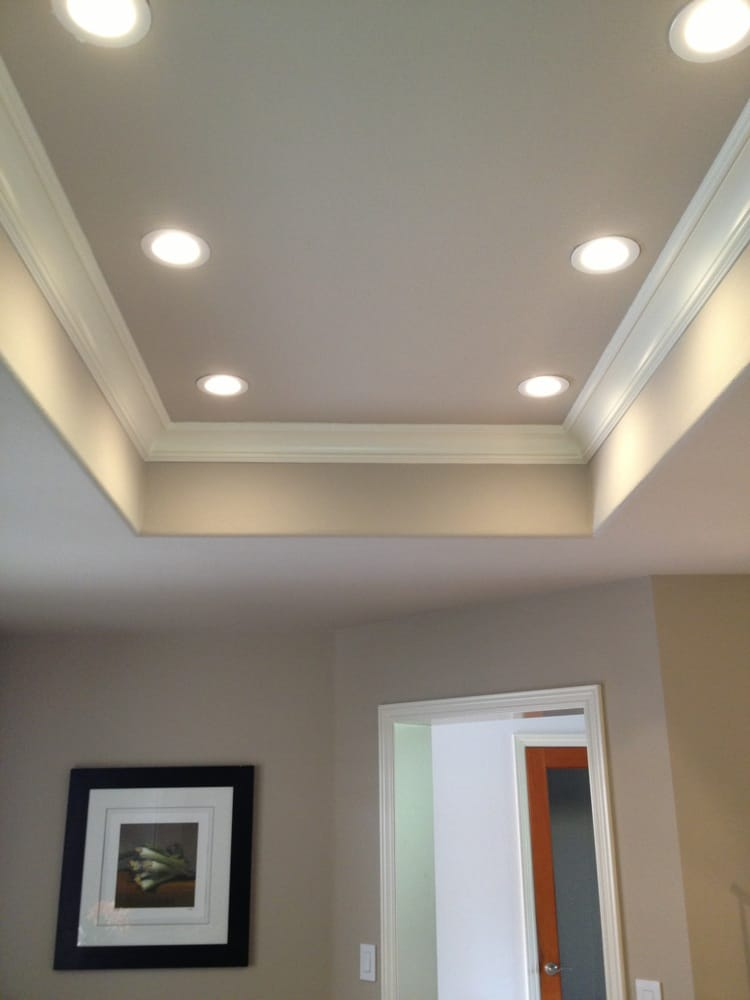 4 led recessed lighting installed in a kitchen that was. Black Bedroom Furniture Sets. Home Design Ideas