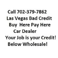Las Vegas Car Dealers Bad Credit