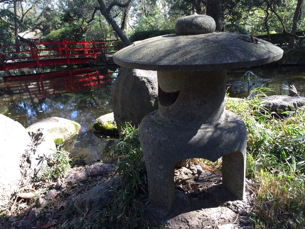 Landscaping Rocks Lodi Ca : Red bridge with stone lantern yelp