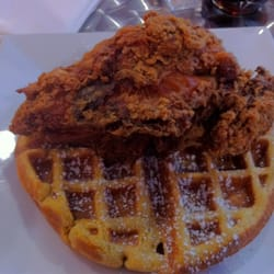 Pink Tea Cup - New York, NY, United States. Fried Chicken with Sweet ...