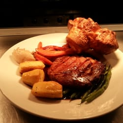 The roast Scotch rib-eye beef and Yorkshire pudding at The yellow house - satisfaction every Sunday.