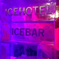 Icebar sign inside the bar