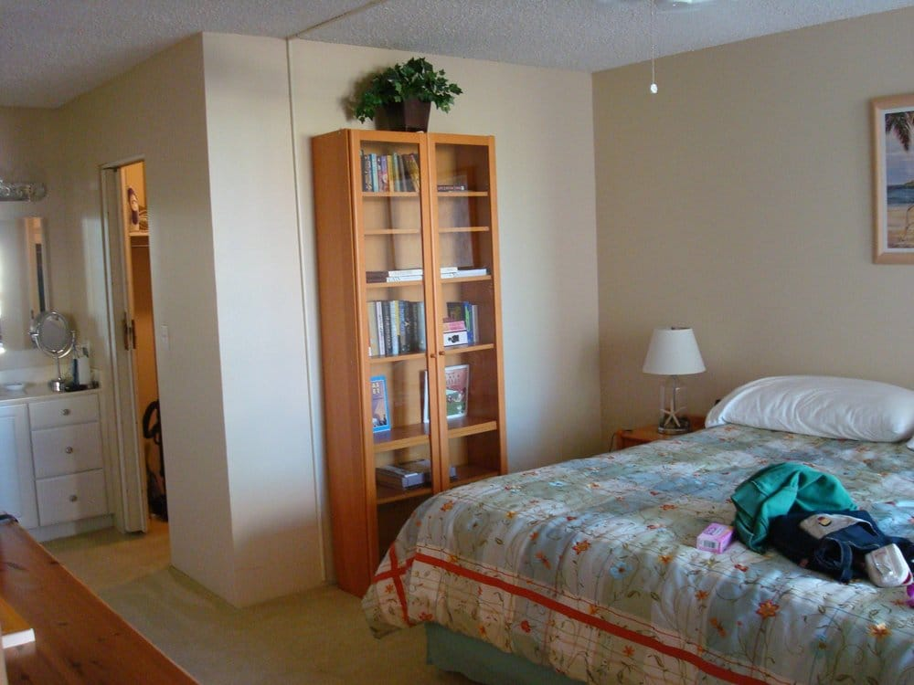 master bedroom with walk in closet and bathroom to the