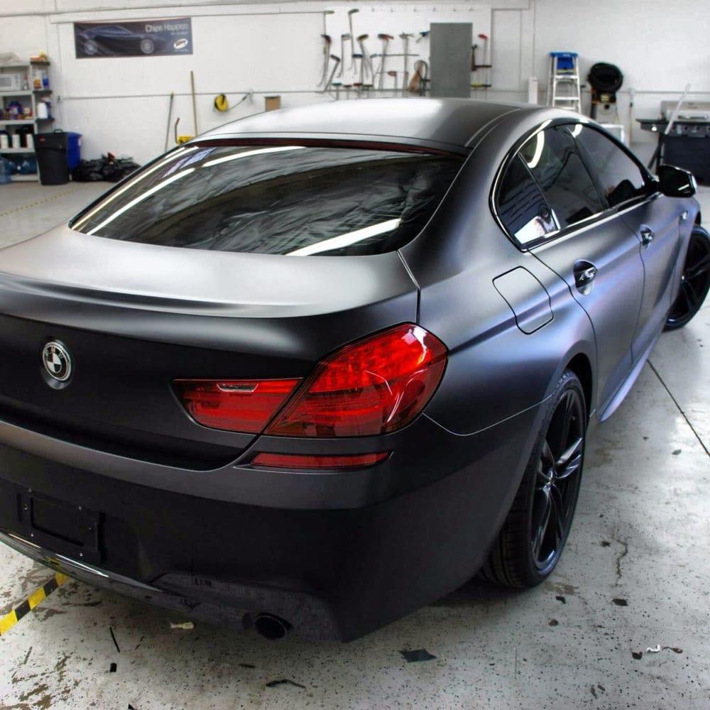 2013 BMW 650i Gran Coupe Matte Black Vinyl Wrap
