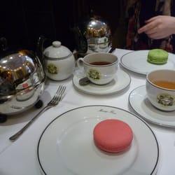 Tea + macaroon