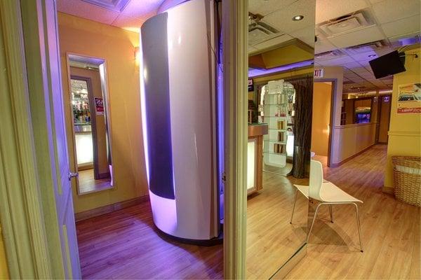 Level 4 ergoline sunrise 480 stand up tanning high for 360 tanning salon