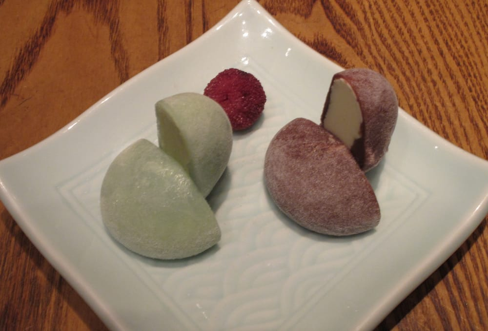 Chocolate Mochi Ice Cream Mochi w Eggnog Ice Cream
