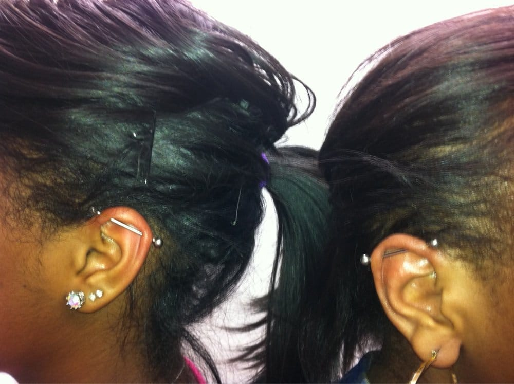 bestest friends get industrial piercings together. | Yelp