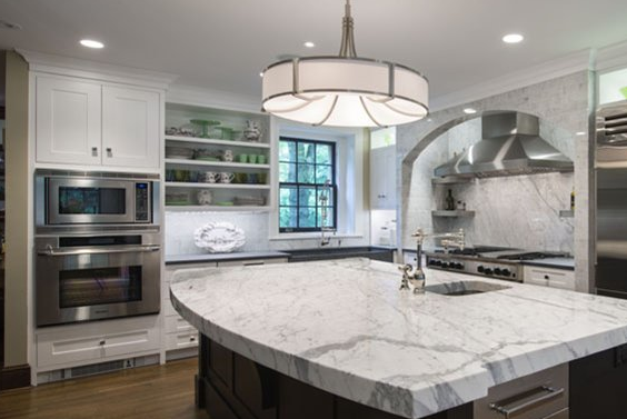 White Kitchen Cabinets Compliment Stainless Steel