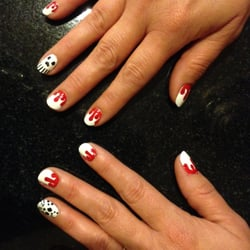 Sejour Hair Salon and Nail Spa - Halloween nails by Maria.  Brought her pics and she hand copied over perfectly! - Chicago, IL, Vereinigte Staaten