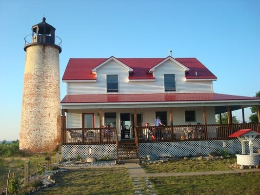 The Lighthouse And Caretakers House From The Garden Side Yelp