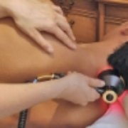 Laser therapy helps neck pain