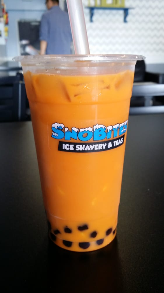 Thai Tea Pudding Thai Tea With Boba And Pudding