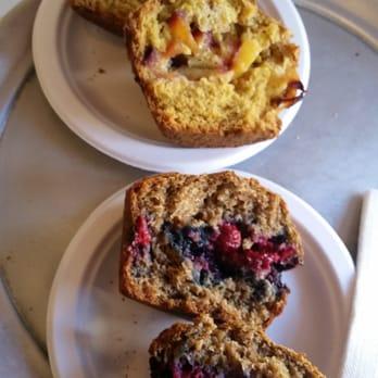 ... States. Carrot peach muffin and a blackberry raspberry bran muffin