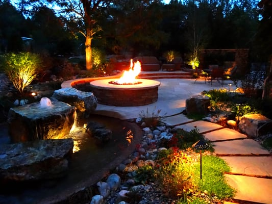 outdoor fire pits and water feature yelp. Black Bedroom Furniture Sets. Home Design Ideas