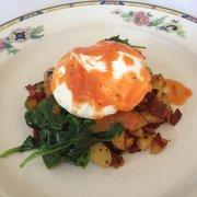 ... House Inn - Harrisonburg, VA, United States. Hash with poached egg