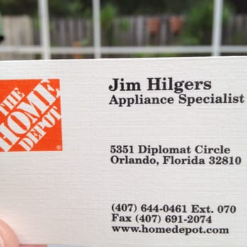 The home depot 13 photos 14 reviews hardware stores for Home depot business cards