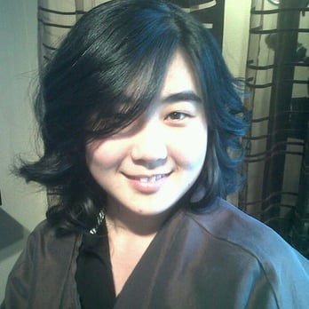 Salon Voda - Seattle, WA, États-Unis. Just finished with my new hair cut by  Sylvia Kim ! Loving it !!