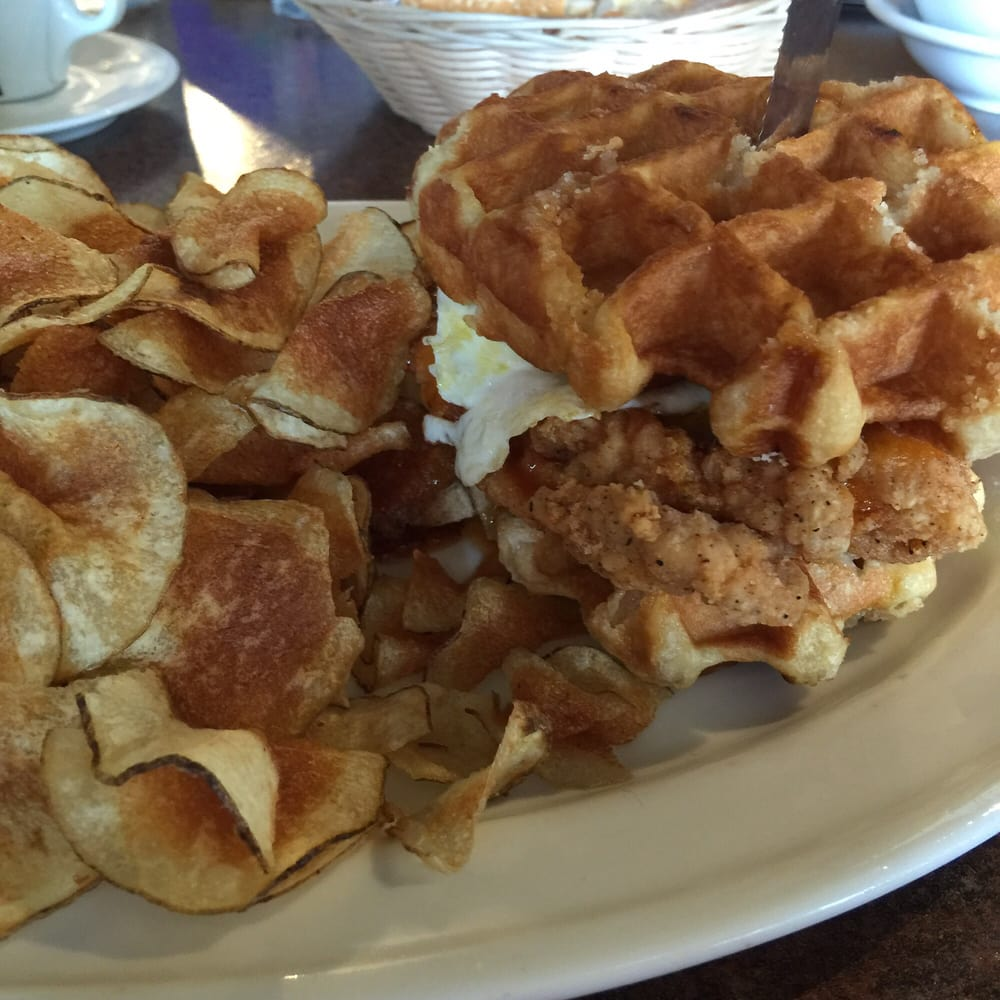 Cafe - Crest Hill, IL, United States. Sugar momma waffle sandwich ...