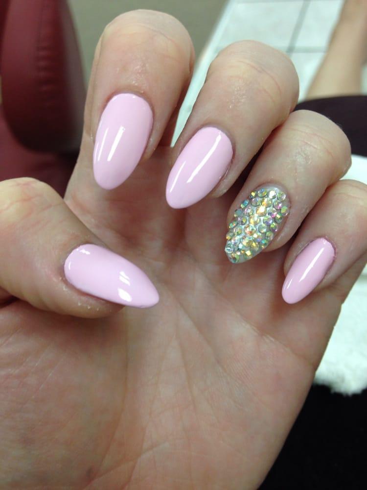 Almond Shaped Acrylic Nails Purple