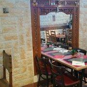 Falafel Byblos - Grenoble, France. miroir byblos