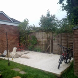 17ft by10ft shed b4 framework built with…