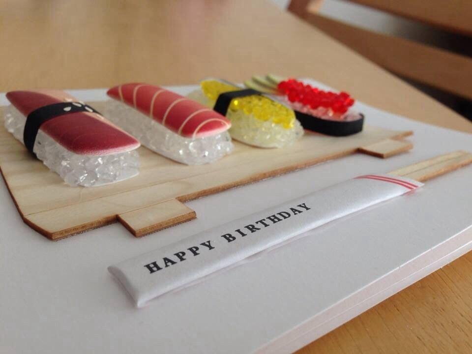 Sushi Happy Birthday Card Yelp