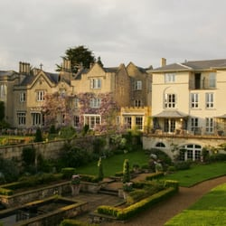 Rear garden view of The Bath Priory…