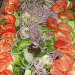 Manny's Restaurant - delicious fresh salad - Rego Park, NY, Vereinigte Staaten