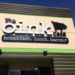 Oink Cafe Breakfast Menu