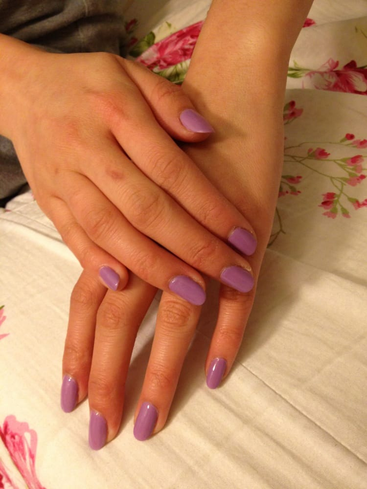Nails Spa - San Jose, CA, United States. OPI puple gel shellac color