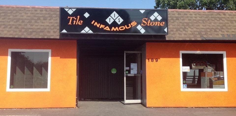Infamous tile stone flooring yuba city ca yelp for Landscaping rocks yuba city ca