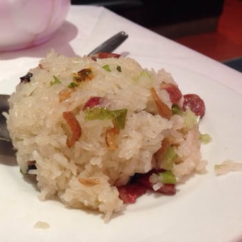Sticky rice with Chinese sausage