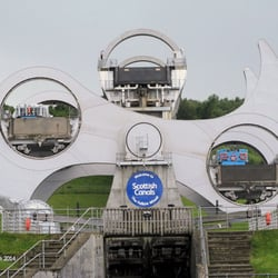 Das Falkirk Wheel in Aktion.