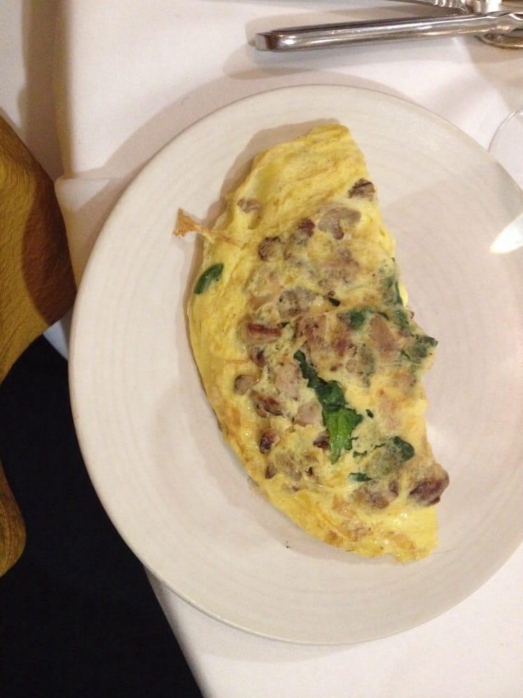 ... - Charleston, SC, United States. Spinach, mushroom, asiago omelette