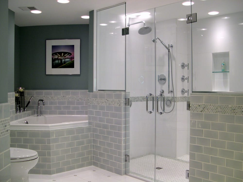 Universal Design Bathroom With Curbless Handicap Accessible Glickman Design Build Yelp